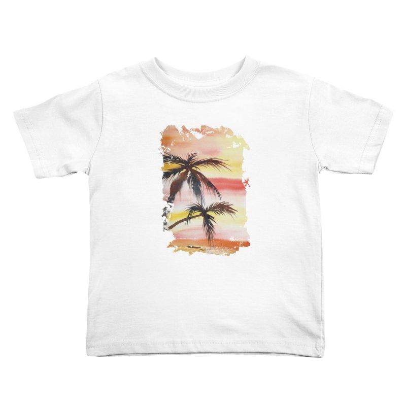 Tropical Sunset Kids Toddler T-Shirt by Kingdomatheart's Artist Shop