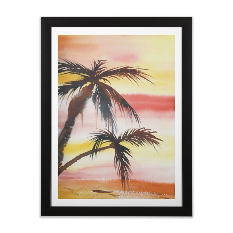 Tropical Sunset Home Framed Fine Art Print by Kingdomatheart's Artist Shop
