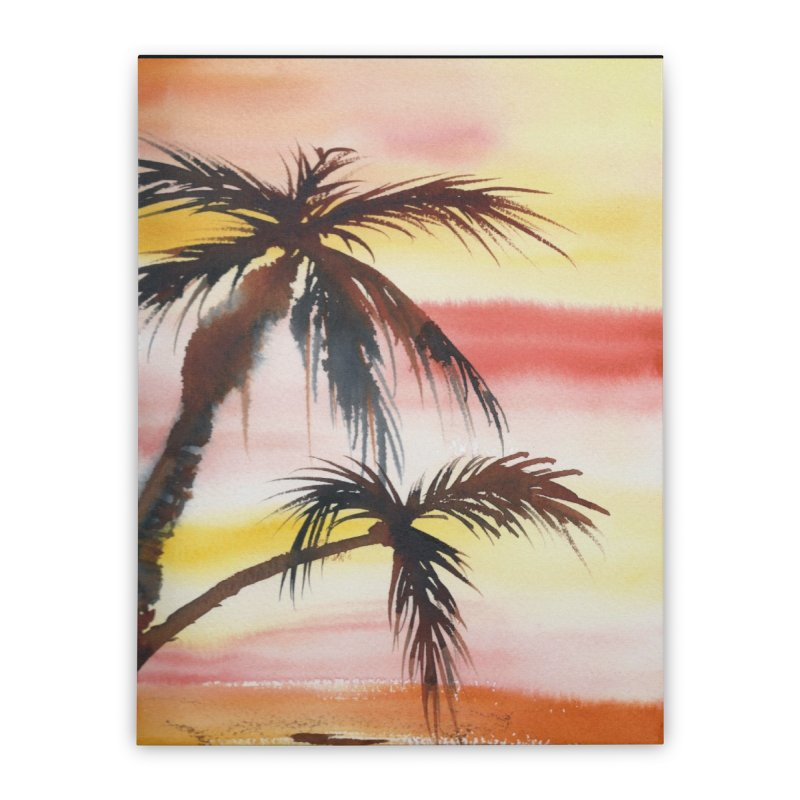 Tropical Sunset Home Stretched Canvas by Kingdomatheart's Artist Shop