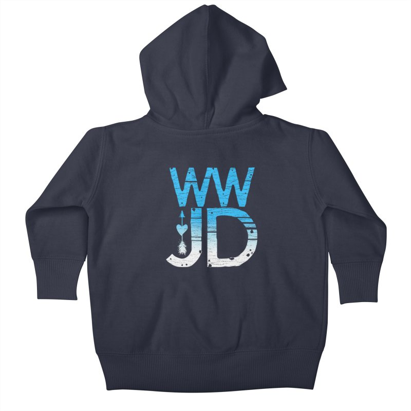 WWJD  Kids Baby Zip-Up Hoody by Kingdomatheart's Artist Shop