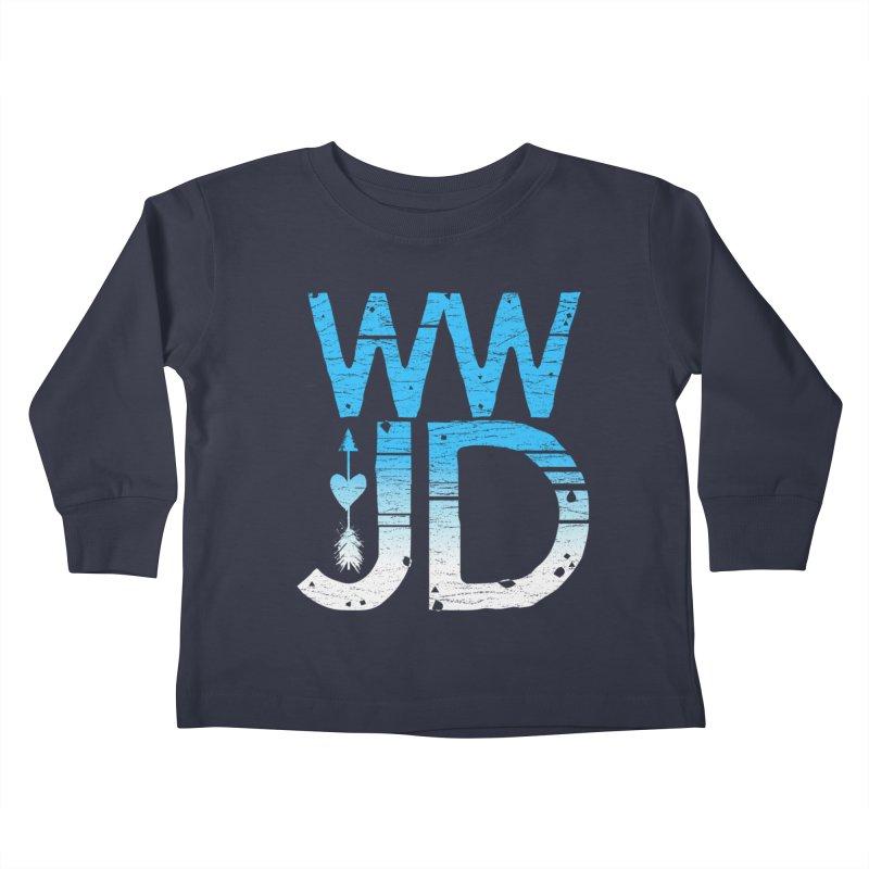 WWJD  Kids Toddler Longsleeve T-Shirt by Kingdomatheart's Artist Shop