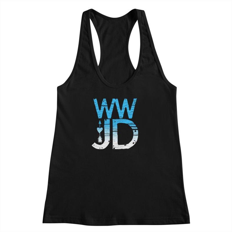 WWJD  Women's Racerback Tank by Kingdomatheart's Artist Shop