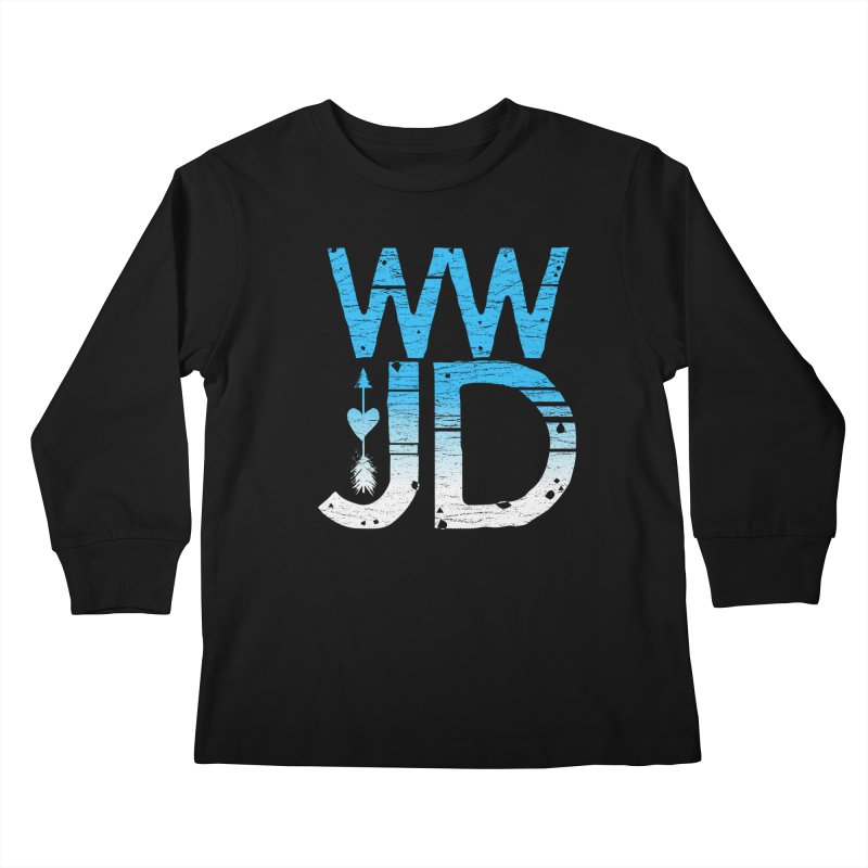 WWJD  Kids Longsleeve T-Shirt by Kingdomatheart's Artist Shop