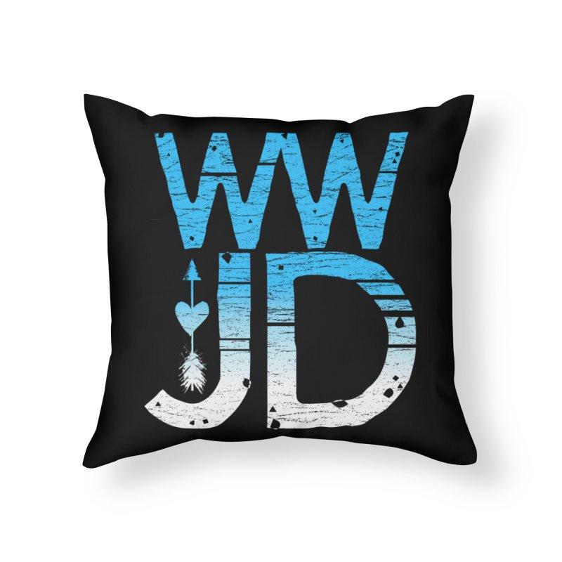 WWJD  Home Throw Pillow by Kingdomatheart's Artist Shop