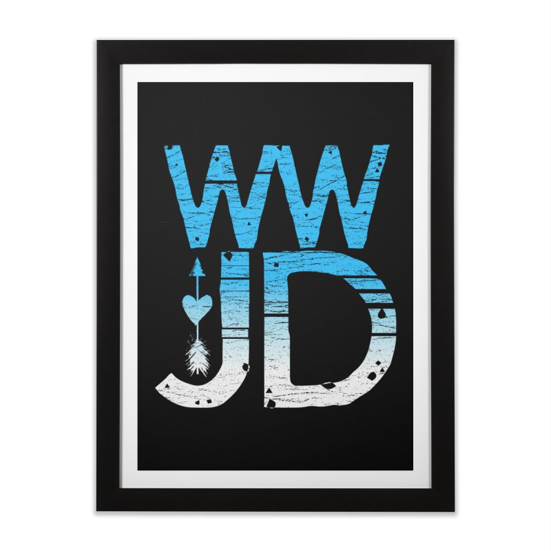 WWJD  Home Framed Fine Art Print by Kingdomatheart's Artist Shop