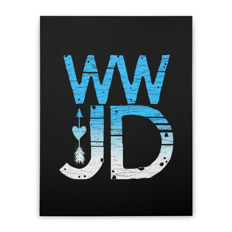 WWJD  Home Stretched Canvas by Kingdomatheart's Artist Shop
