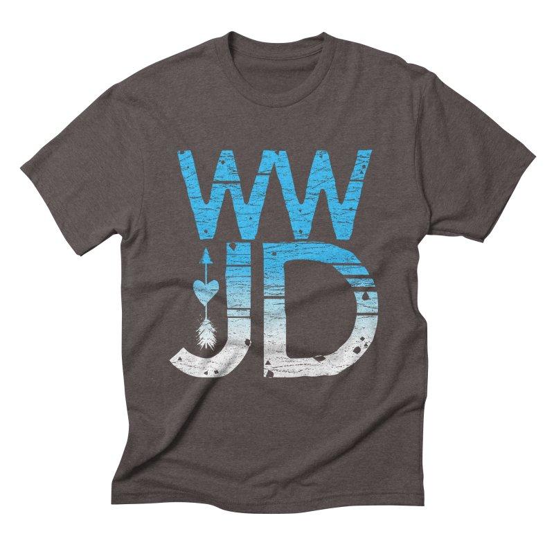 WWJD Men's Triblend T-Shirt by Kingdomatheart's Artist Shop