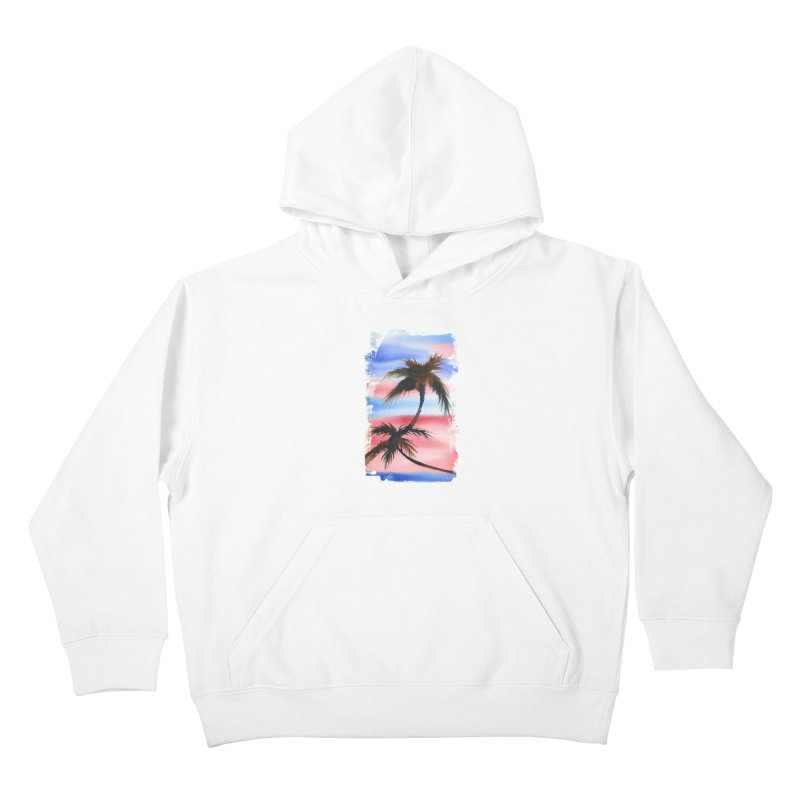 Palm Tree me Kids Pullover Hoody by Kingdomatheart's Artist Shop