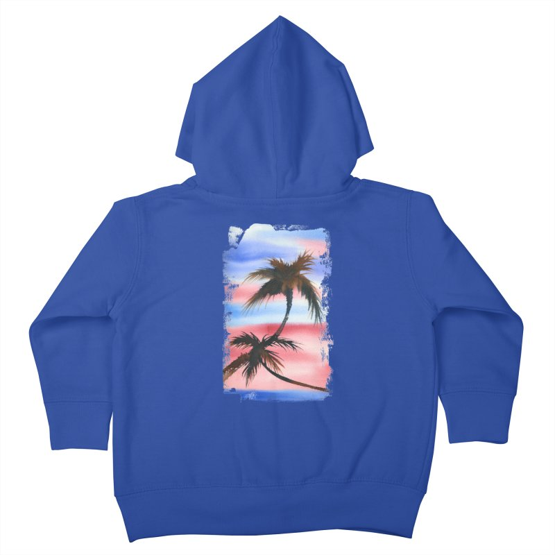 Palm Tree me Kids Toddler Zip-Up Hoody by Kingdomatheart's Artist Shop