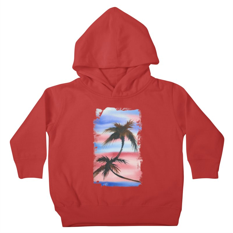 Palm Tree me Kids Toddler Pullover Hoody by Kingdomatheart's Artist Shop