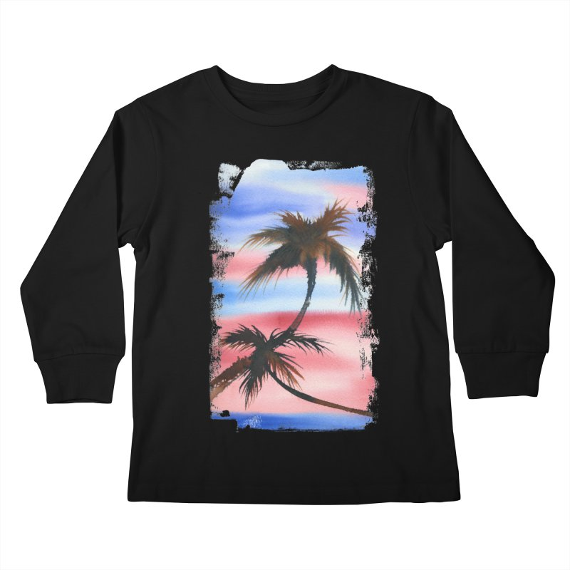 Palm Tree me Kids Longsleeve T-Shirt by Kingdomatheart's Artist Shop