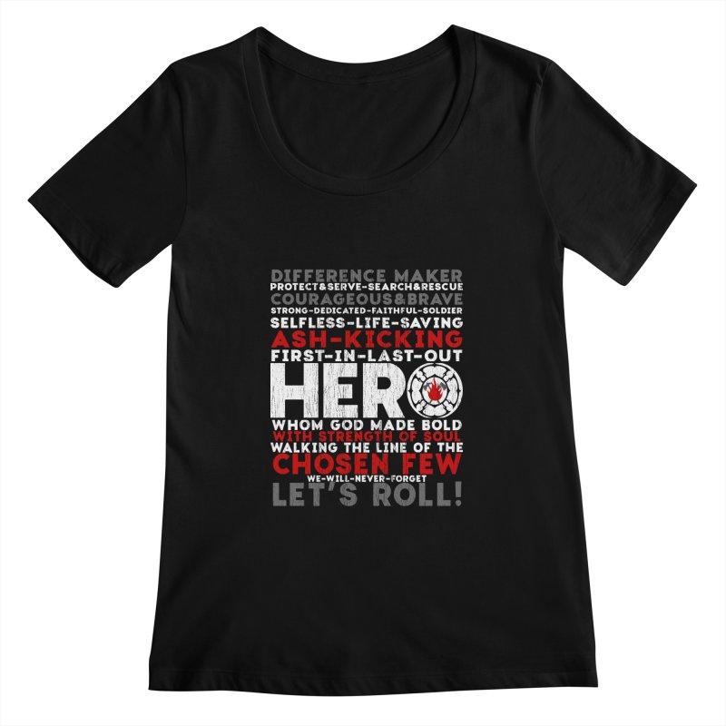 Hero  Women's Scoopneck by Kingdomatheart's Artist Shop