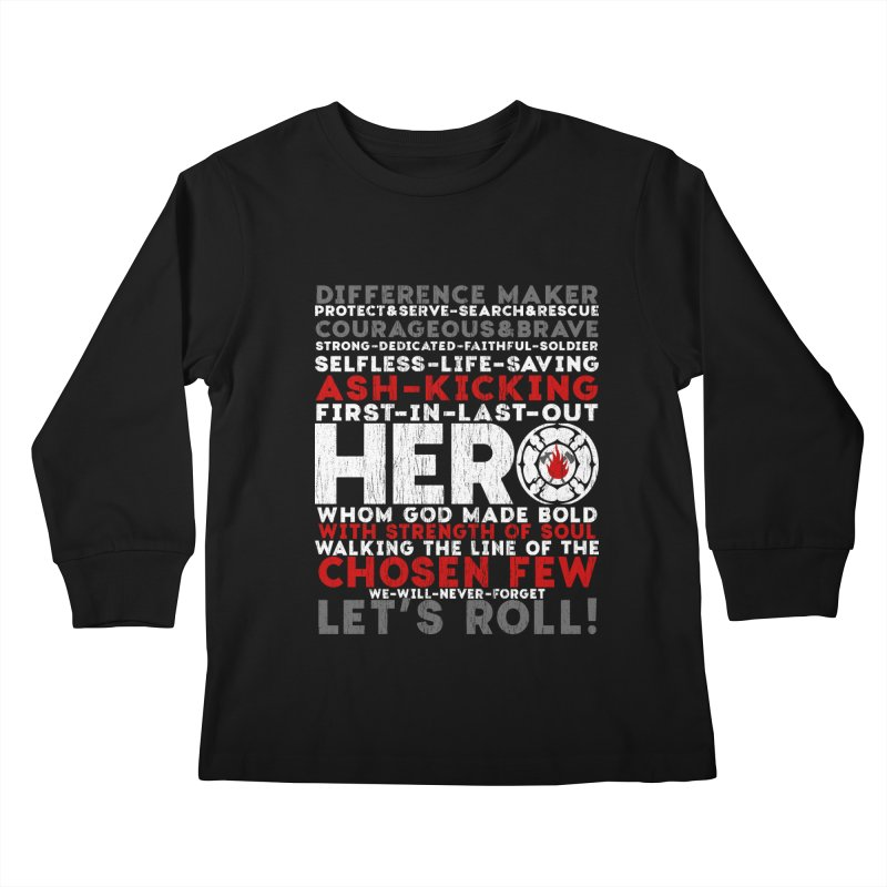 Hero  Kids Longsleeve T-Shirt by Kingdomatheart's Artist Shop