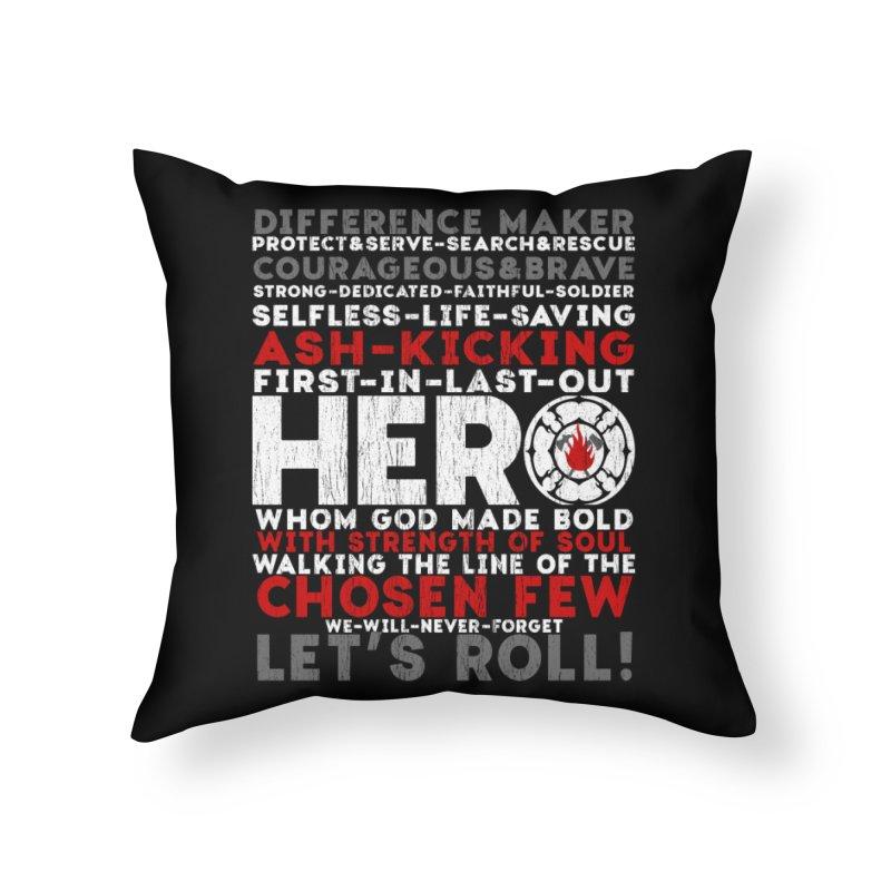 Hero  Home Throw Pillow by Kingdomatheart's Artist Shop