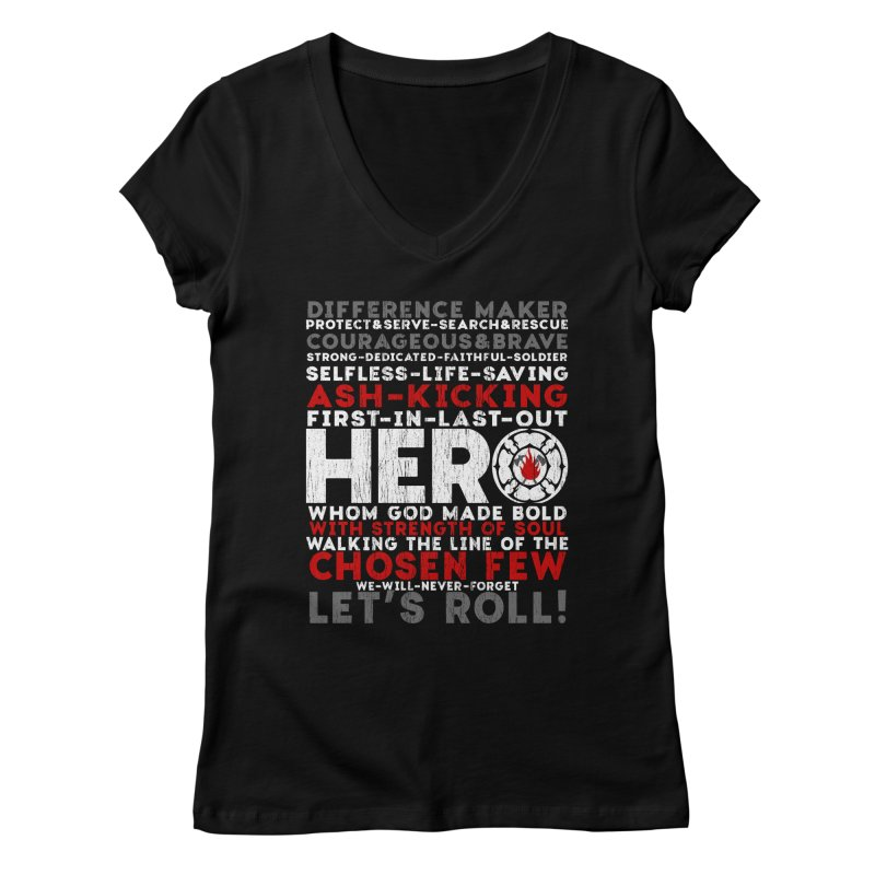 Hero Women's V-Neck by Kingdomatheart's Artist Shop