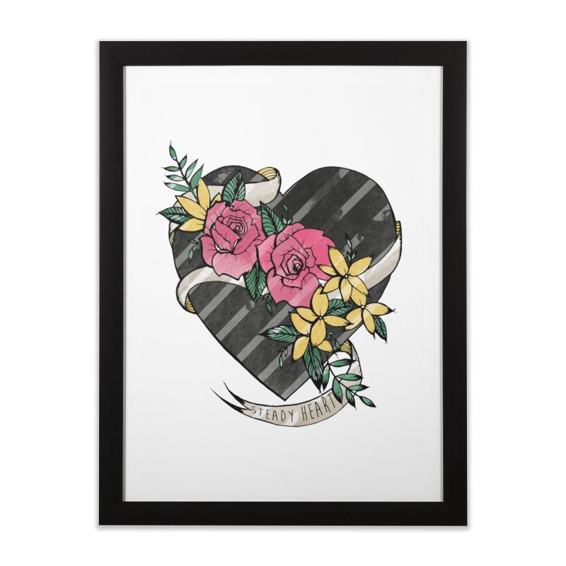 Steady Heart Home Framed Fine Art Print by Kingdomatheart's Artist Shop