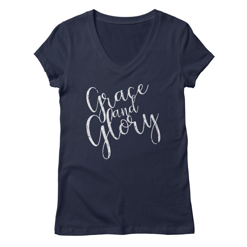 Grace and Glory Women's V-Neck by Kingdomatheart's Artist Shop