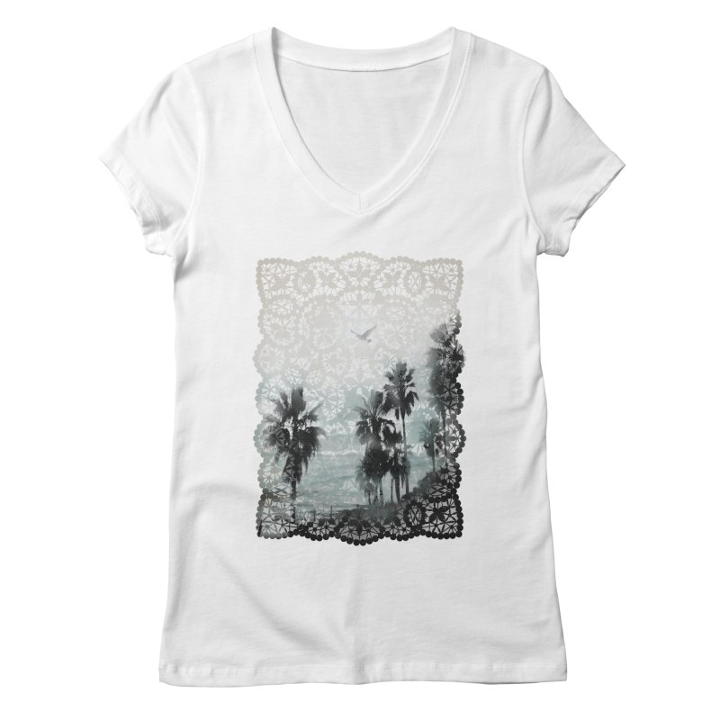 Laguna Beach Lace Women's V-Neck by Kingdomatheart's Artist Shop