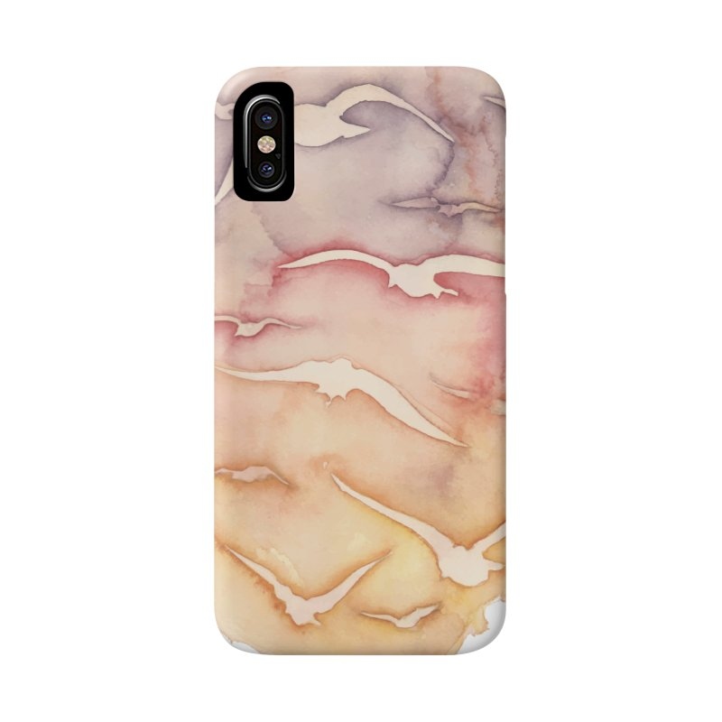 Sunset Watercolor Accessories Phone Case by Kingdomatheart's Artist Shop