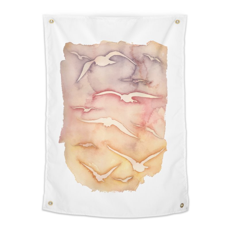 Sunset Watercolor Home Tapestry by Kingdomatheart's Artist Shop