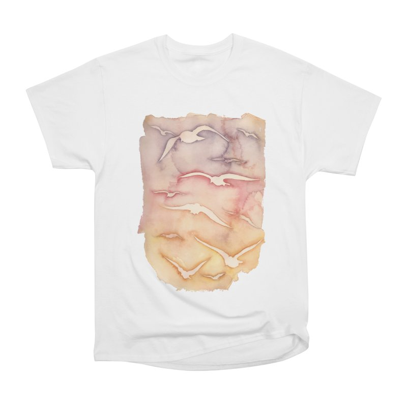 Sunset Watercolor  in Women's Classic Unisex T-Shirt White by Kingdomatheart's Artist Shop