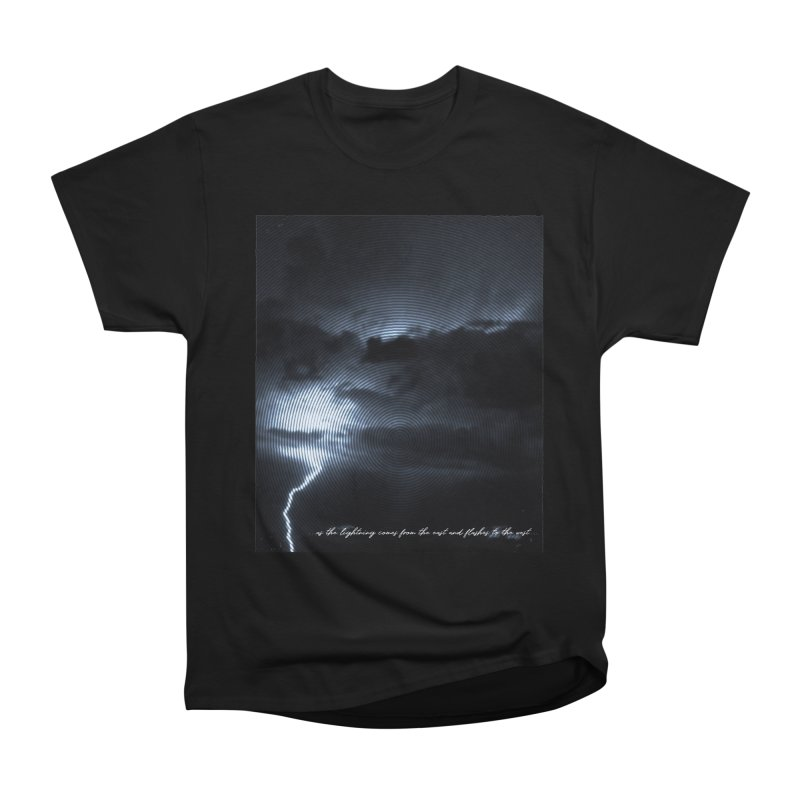 Lightning Flashes in Women's Classic Unisex T-Shirt Black by Kingdomatheart's Artist Shop