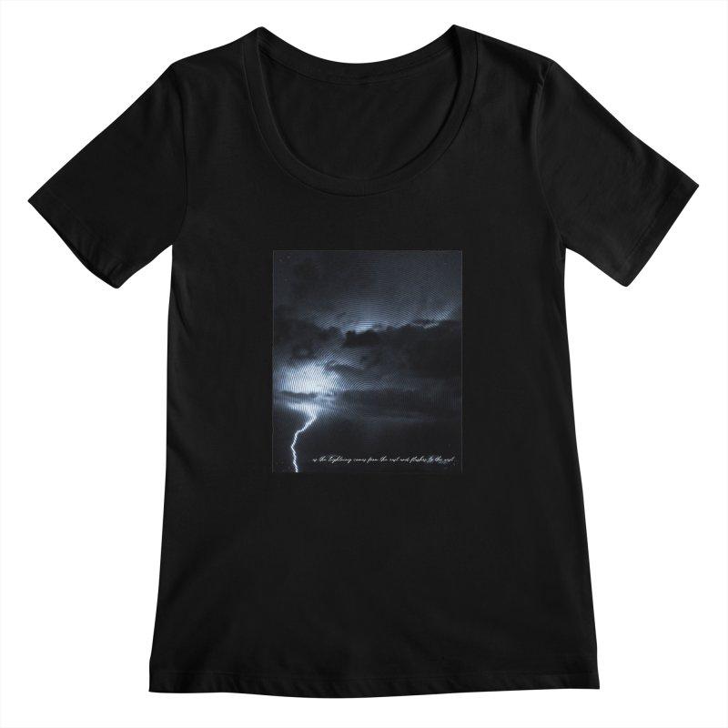 Lightning Flashes Women's Scoopneck by Kingdomatheart's Artist Shop