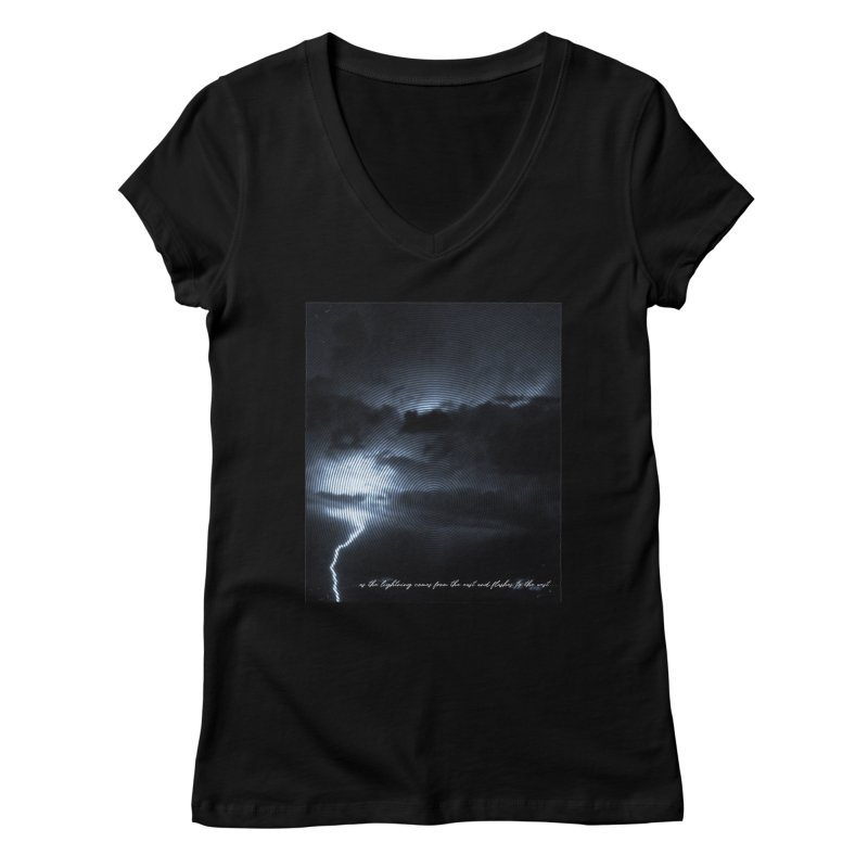 Lightning Flashes Women's V-Neck by Kingdomatheart's Artist Shop