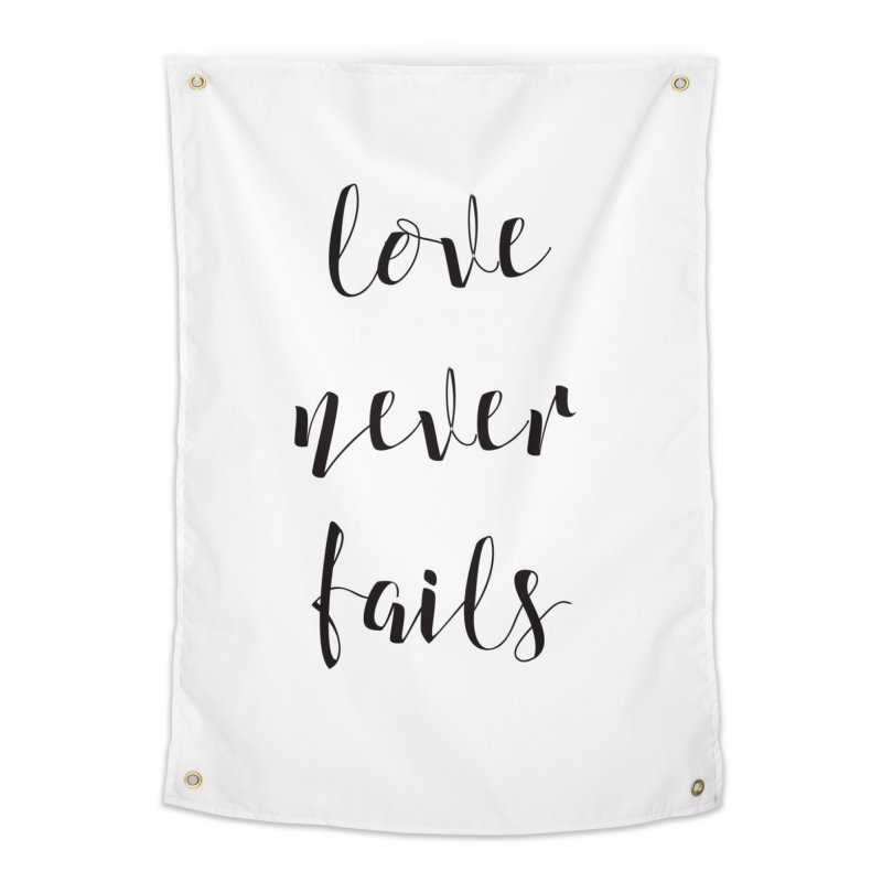 Love never fails Home Tapestry by Kingdomatheart's Artist Shop
