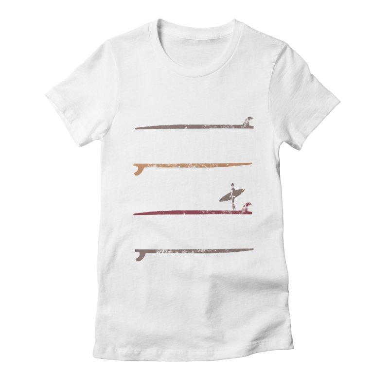 Soul Surfer Women's Fitted T-Shirt by Kingdomatheart's Artist Shop