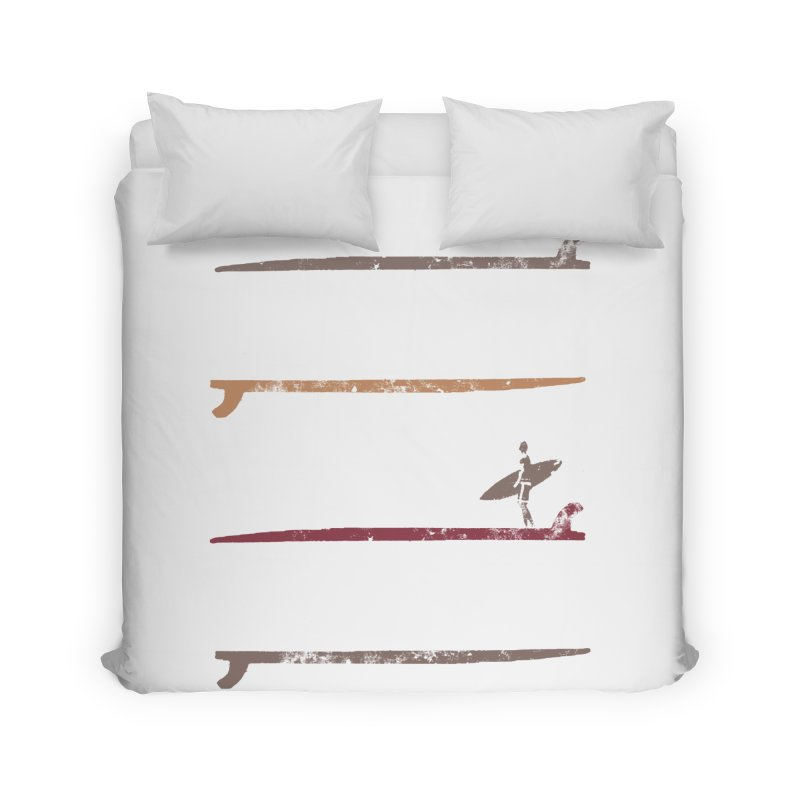 Surfer Stamp Home Duvet by Kingdomatheart's Artist Shop