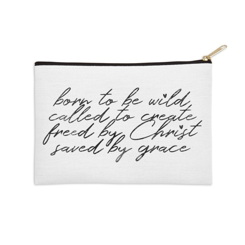 Born to be Wild Accessories Zip Pouch by Kingdomatheart's Artist Shop