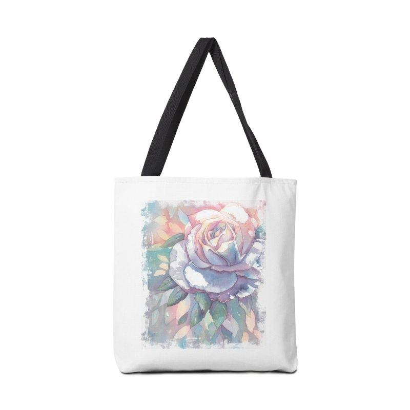 Watercolor Rose Accessories Bag by Kingdomatheart's Artist Shop