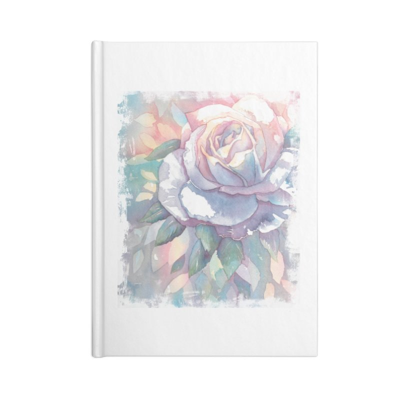 Watercolor Rose Accessories Notebook by Kingdomatheart's Artist Shop