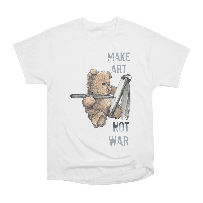 Make Art not War Women's Classic Unisex T-Shirt by Kingdomatheart's Artist Shop