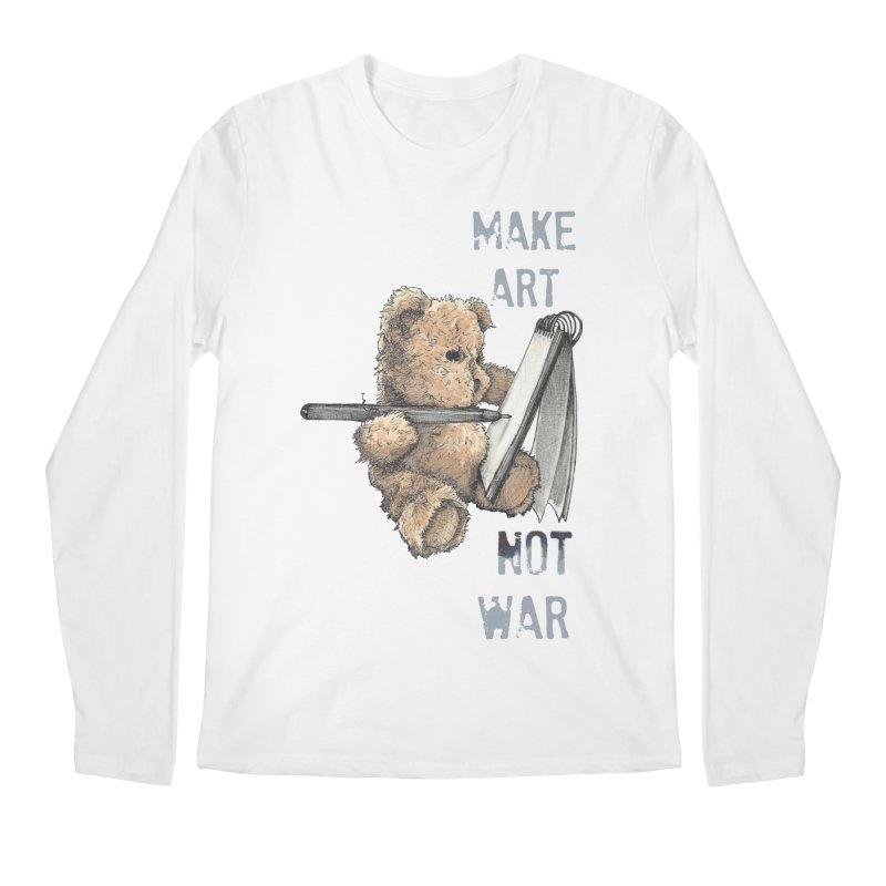 Make Art not War Men's Longsleeve T-Shirt by Kingdomatheart's Artist Shop