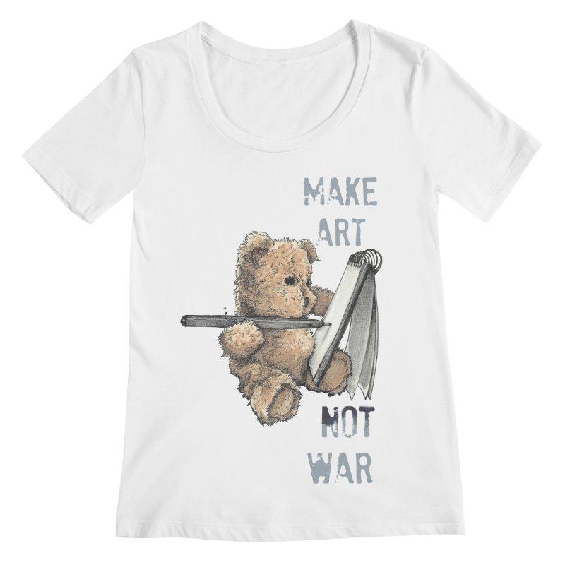 Make Art not War Women's Scoopneck by Kingdomatheart's Artist Shop