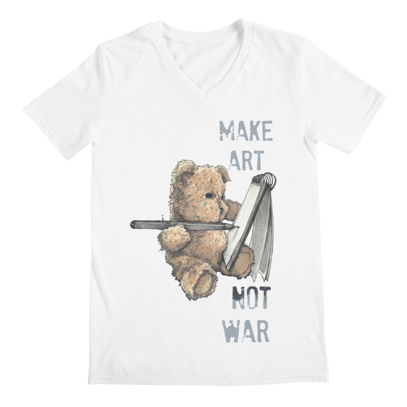Make Art not War Men's V-Neck by Kingdomatheart's Artist Shop