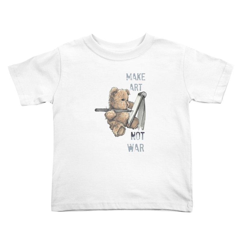 Make Art not War Kids Toddler T-Shirt by Kingdomatheart's Artist Shop