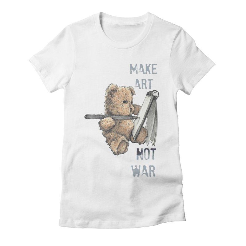 Make Art not War Women's Fitted T-Shirt by Kingdomatheart's Artist Shop