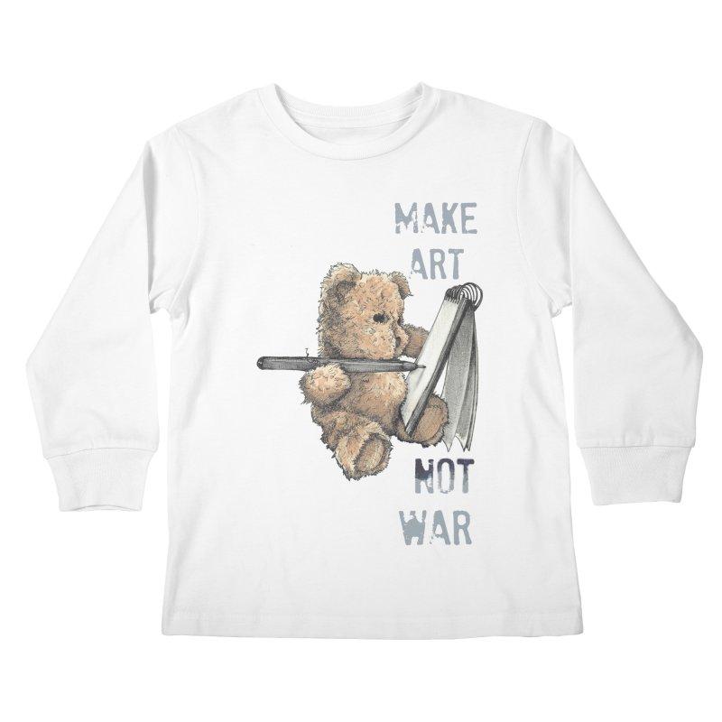 Make Art not War Kids Longsleeve T-Shirt by Kingdomatheart's Artist Shop