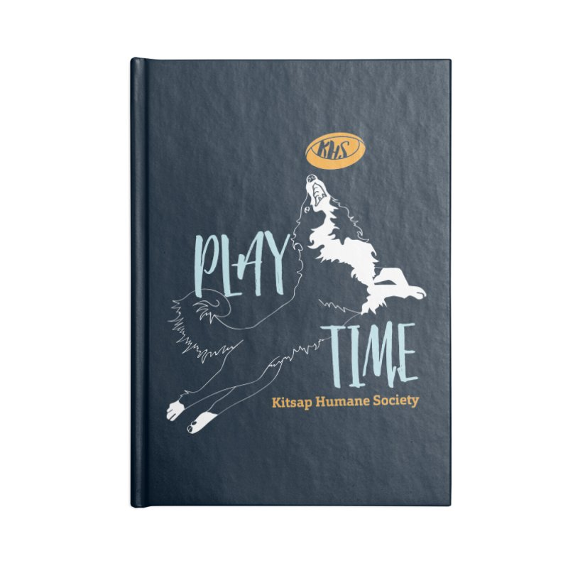 Play Time Accessories Lined Journal Notebook by Kitsap Humane Society's Artist Shop