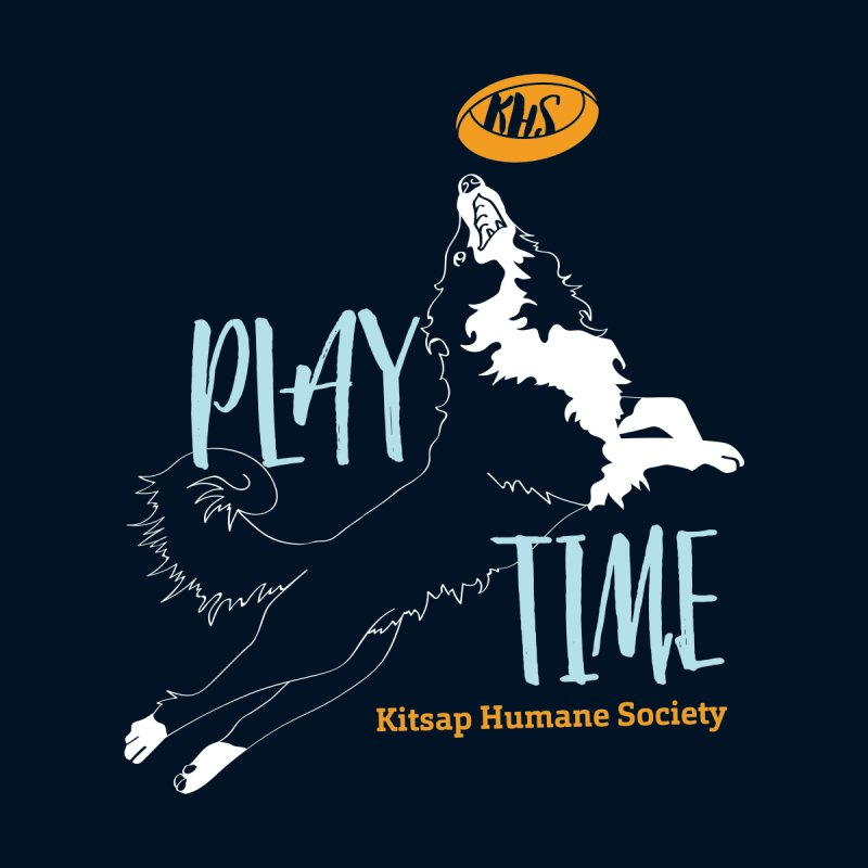 Play Time Women's V-Neck by Kitsap Humane Society's Artist Shop