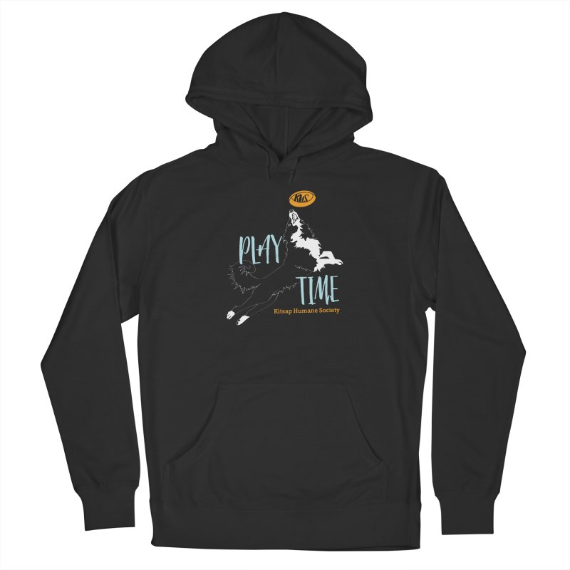 Play Time Men's French Terry Pullover Hoody by Kitsap Humane Society's Artist Shop