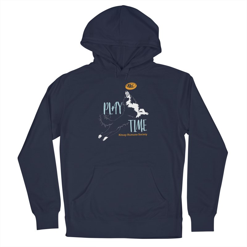 Play Time Men's Pullover Hoody by Kitsap Humane Society's Artist Shop