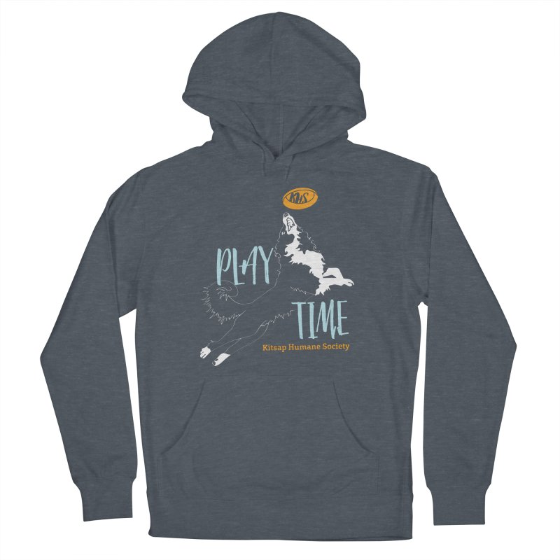Play Time Women's French Terry Pullover Hoody by Kitsap Humane Society's Artist Shop
