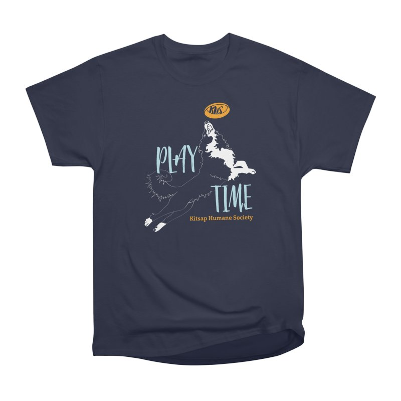 Play Time Men's Heavyweight T-Shirt by Kitsap Humane Society's Artist Shop