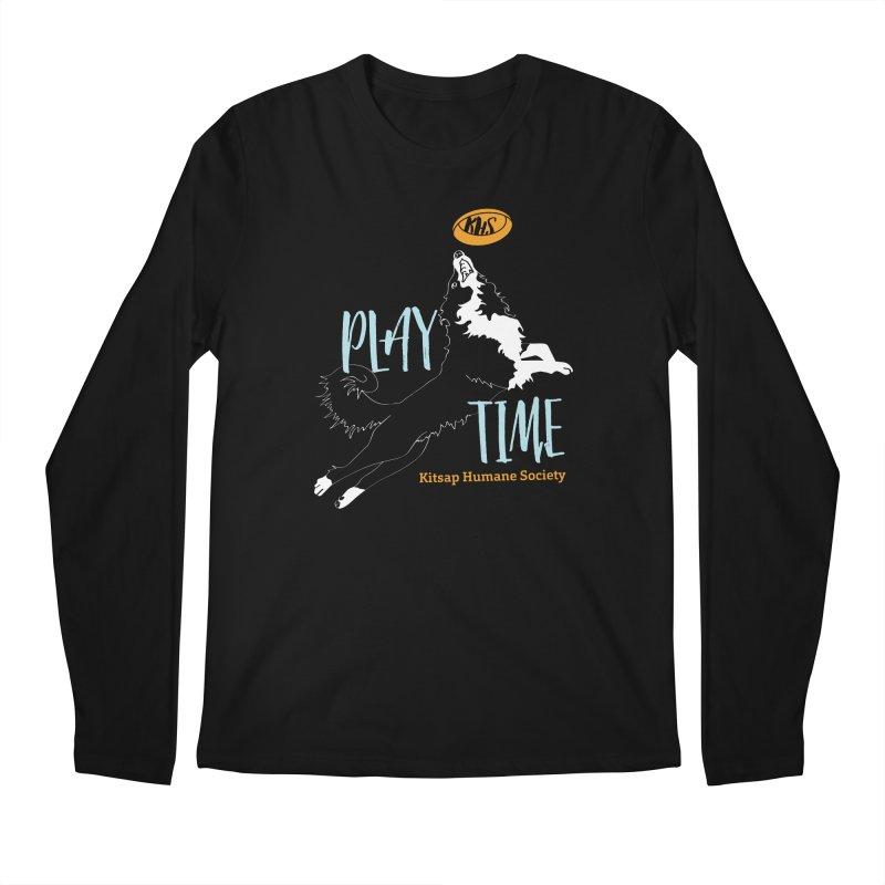Play Time Men's Regular Longsleeve T-Shirt by Kitsap Humane Society's Artist Shop