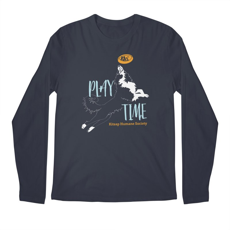 Play Time Men's Regular Longsleeve T-Shirt by Kitsap Humane Society's Artist Shop