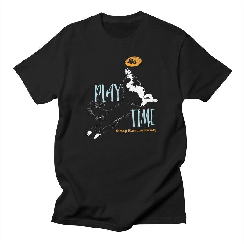 Play Time Men's Regular T-Shirt by Kitsap Humane Society's Artist Shop